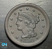 1850 Braided Hair Large Cent --  MAKE US AN OFFER!  #B3308