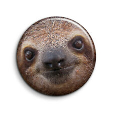 CUTE SLOTH 25mm Button Badge. FREE POST
