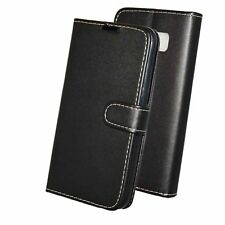 PU Leather Book Wallet Flip Stand Case Pouch For ZTE Blade V8 in Black