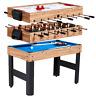 "48"" 3-In-1 Multi Combo Game Table Family Foosball Soccer Billiards Pool Hockey"