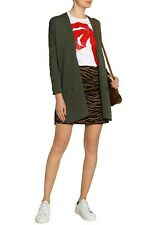 ** CLAUDIE PIERLOT ** Army Green cardigan ** Size 1 ** Lace-Up Sleeve **