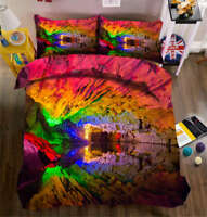Rainbow Rocks 3D Printing Duvet Quilt Doona Covers Pillow Case Bedding Sets