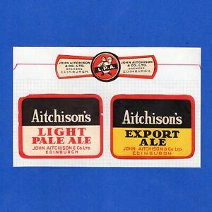 AITCHISON  JOHN.  BREWERS. EDINBURCH, SCOTLAND.  OLD BEER LABELS