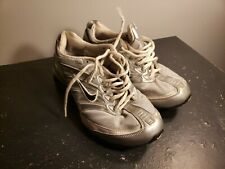 Womens Nike Shox Shoes Size 8 Black White And Silver