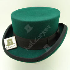 CLASSIC Wool Felt Tuxedo Topper Top Hat Men Women Short Victorian | 59cm | Green