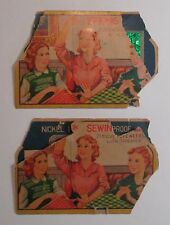 Collectible sewing needle lot - 2 Sewing Susan needle books in fair condition