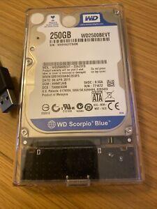 250Gb USB3 SATA HDD with Western Digital Scorpio Blue Drive