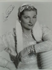 Joan Fontaine Vintage Hand Signed 8x10 Black and White Photo