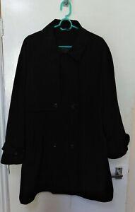 Debenhams Nuage Black Ladies Rain Shower Mac Coat Jacket Light Weight Size 14