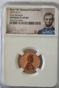 2019-W Lincoln Cent,  PR 69 Rd Reverse Proof, Early Release