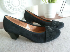 GABOR Best Fitting Pumps Ballerina 6 39 NEU blau Dirndl Hochzeit Schuhe Comfort