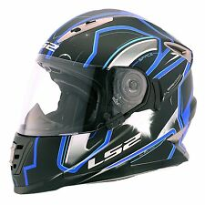 LS2 Helmets - FF302 - Space Black Blue - Full Face Dual Visor Motorcycle Helmet