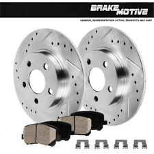 Rear Drilled & Slotted Brake Rotors And Ceramic Pads Mountaineer Ford Explorer
