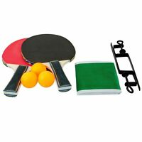 02 Player Table Tennis Ping Pong Set Includes 3 Balls 2 Paddle Bats Game Park UK