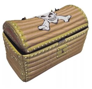 INFLATABLE TREASURE CHEST Blow Up Drinks Cooler Fancy Dress Pirate Party UK SLR