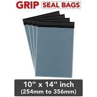 10 x 14 inch Strong Grey Mailing Post Mail Postal Bags Poly Postage Self Seal