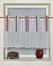 Scheibengardine Ösenpanneaux Bistrogardine 2205 03 50 x 150 cm Rot Grau Weiß
