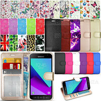 For Samsung Galaxy Xcover 4 G390F- Wallet Leather Case Flip Cover + Touch Stylus