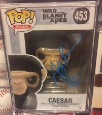 Andy Serkis signed Autographed Funko Pop Star Caesar Planet Of The Apes War Rise