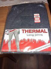 gents dark blue thermal long johns size 2xl