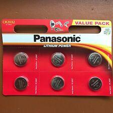 6 celda de moneda de litio Panasonic CR2032 2032 3 V batería Llave de Automóvil Dijes Juguetes Remoto