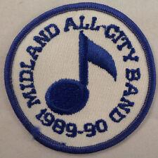 Midland All-City Band 1989-90 Vintage Uniform Patch
