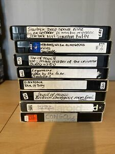 VHS Video Recordable Tapes Used 180mins Bundle-Pre-Recorded Untested Very Clean