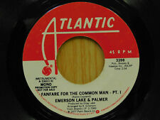 Emerson Lake And Palmer rock 45 Fanfare For The Common Man pt 1 Atlantic promo