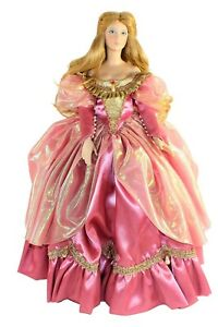 1987 Franklin Mint Cinderella 19in Porcelain Doll Heirloom Collection With Box