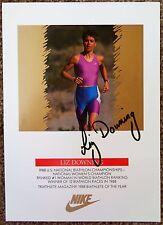 Signed Liz Downing 5x7 Promo Card In-Person Biathlon Biathlete Autograph