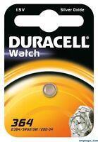 5 piles 364 Duracell - pile Oxyde d'argent SR60 equivalent AG1
