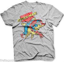 SPIDERMAN Retro MARVEL T-Shirt  camiseta cotton officially licensed