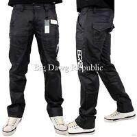 "Ecko Mens Boys Quatro Black Coated Denim Relaxed Fit Jeans 30"", 32"", 34"", 36"","