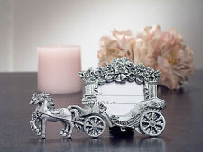 50 Silver Cinderella Wedding Coach Place Card Photo Frame Wedding Favor