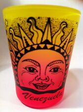 VENEZUELA RAINBOW SUN NEON YELLOW/NEON PINK SHOT GLASS