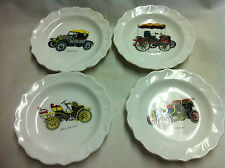Sandford China- Set of 4 plates with Cars / Automobiles