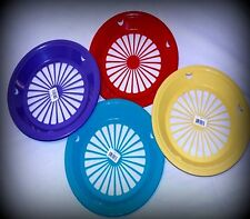 8 BRAND NEW COLORED PAPER PLATE HOLDERS, PICNIC & BBQ, CAMPING & PARTIES