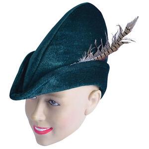 Robin Hood Hat Soft Felt Fancy Dress Oktoberfest Hat