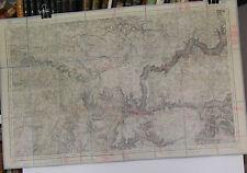 Cartes militaire Bedarieux N°232 1866 révisée en 1901 entoilée 1/80000