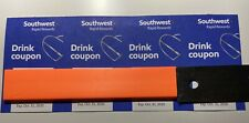 Southwest Airlines Drink Coupons Four Total Expire October 31, 2020