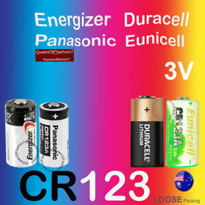 CR123A CR123 Energizer Panasonic Eunicell Duracell Battery Lithium Cell 3.0V