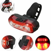 Cycling Bike Red Tail Light USB Rechargeable Bicycle Safety Warning 4 LED Lamp