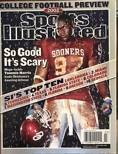 Aug. 12, 2002 SPORTS ILLUSTRATED..OKLAHOMA SOONERS Tommie Harris Cover..MINT