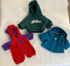 Clothing Lot LL Bean Plush Teddy Bear Ellie's Snowflake Parka Elliots Cub-Eralls