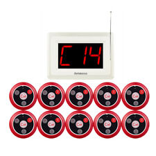 Restaurant Waiter Service Calling Pager System Pager 10Call Buttons Bell Waiting