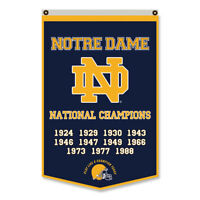 Notre Dame Fighting Irish National Champions Flag Banner 30x50Inch
