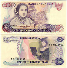 Indonesia 10000 Rupiah P#126a (1985) Bank Indonesia VF