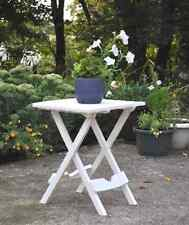 Garden In/Outdoor Fold Small Side Table Patio Furniture White Plastic Travel NEW