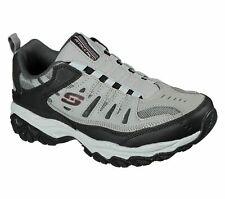 Skechers Men's After Burn M. Fit Memory Foam Walking Sneakers Gray/Black 11.5