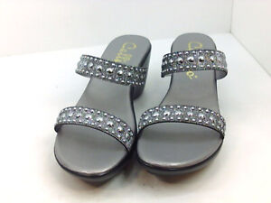 Callisto Women's Shoes Wedged Sandals, Silver, Size 8.0